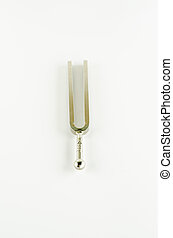 music tools tuning fork on a white background