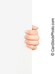 hand holding business card