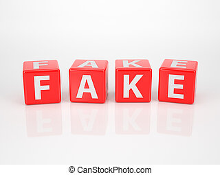 Fake out of red Letter Dices