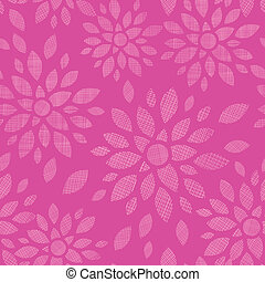 Abstract textile flowers pink seamless pattern background -...