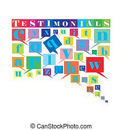 Testimonials  - An abstract illustration of Testimonials