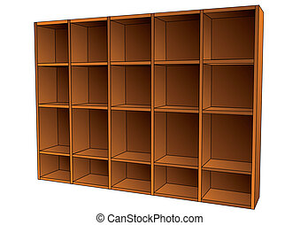 book shelf isolated on a white background