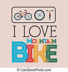 Bike design over beige background, vector illustration
