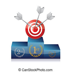 podium target illustration design