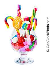 仍然, 生活, 玻璃, 容器, 不同, 鮮艷, 糖果, Sw