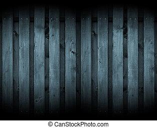 Dark Wood Background with Spotlights - Dark monochrome...