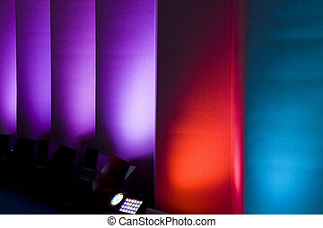colorful walls - colorful light show in the walls