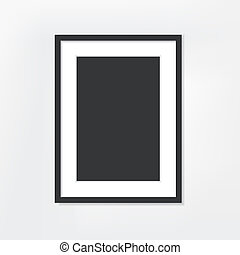 picture frame on white background - vector blank picture...