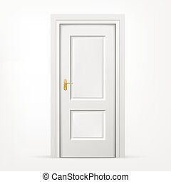 3d door on white background - vector blank 3d door on white...