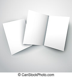 vector illustration of blank white folded paper - blank...
