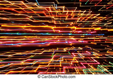 Abstract Futuristic Glowing Background - Abstract...