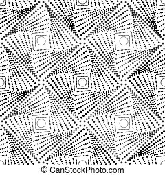 Geometric pattern with dotted rhombus