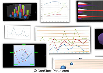 graphs and charts - Abstract different graphs and charts...