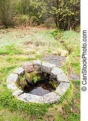 Shallow sacrificial well - A shallow well used as offering...