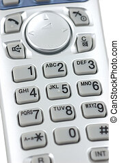 Cordless phone keypad - Close up of a cordless phone keypad