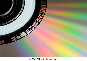 CD or DVD Close-Up - A close-up shot of a CD or a DVD