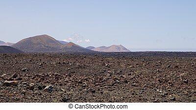 Lanzarote, vulcânico, paisagem, 007