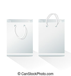 Blank Shopping Paper Bags - Shopping paper bags isolated on...