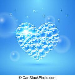 Shiny Heart of Bubbles - Shiny heart of transparent bubbles...