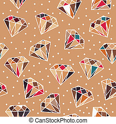 Seamless Pattern with Diamonds