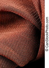 Brown Synthetic Fabric Texture Close-Up - A close-up shot of...