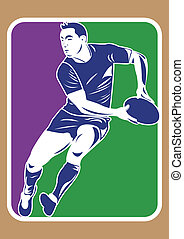 rugby player silhouette