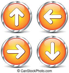 Vector arrows icons - Vector illustration of set arrows...