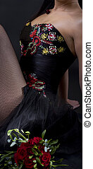 Dress with flower emroidery - Photo of a cocktail dress...