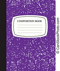 Purple Composition Book - Traditional workbook for study and...