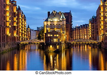 The Speicherstadt in Hamburg