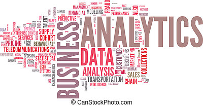 Illustration of analytics business analysis - Background...