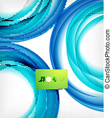 Blue swirl wave abstract design template