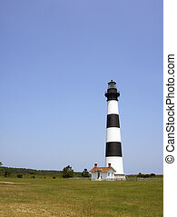 Bodie Island lighthouse on the outer banks of North Carolina...