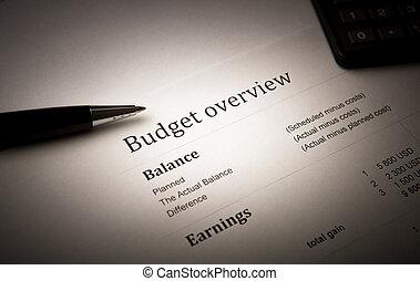 business still-life - pen lying on the document folder