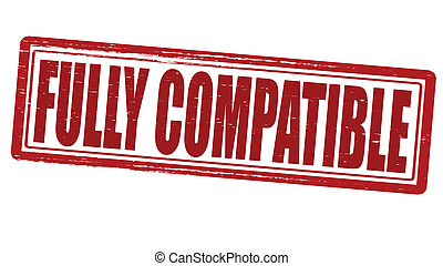 Fully compatible - Stamp with text fully compatible inside,...