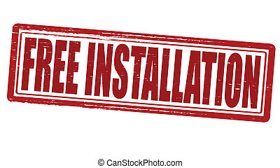 Free installation - Stamp with text free installation...