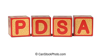 PDSA - Colored Childrens Alphabet Blocks - PDSA -...