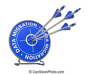 Data Migration Concept - Hit Blue Target - Data Migration...