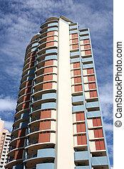 Brisbane skyscraper - Tall skyscraper. Residential building...