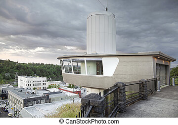 Municipal Elevator Observation Deck in Oregon City - View of...
