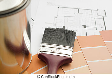 Prepares the architectural paint color for new home