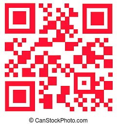 QR Code - Light red abstract QR Code texture background