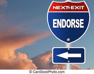 Endorse road sign