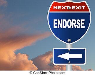 Endorse road sign