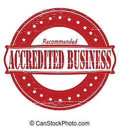 Accredited business - Stamp with text accredited business...