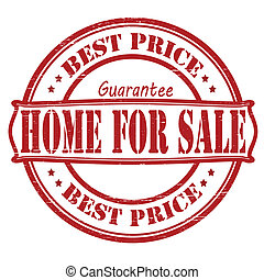 Home for sale - Stamp with text home for sale inside, vector...