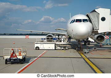 Airliner - Airplane parked at an airport