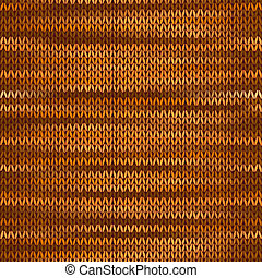 Seamless Knitted Melange Pattern. Orange Brown Color Vector...