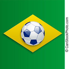 Soccer ball, concept for Brazil 2014 football championship