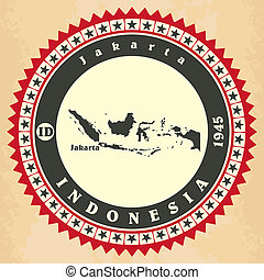 Vintage label-sticker cards of Indonesia.